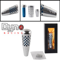 Smoke Interior Aluminium Metal Drilled Hole Dildo Gear Shift Knob Smoke 20cm