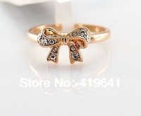 free   shipping Bow OL lovely ring female Korean influx of people fashion