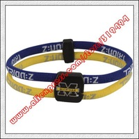 Michigan Wolverines Double Loop Trion-Z Bracelet - Navy Blue  Maize