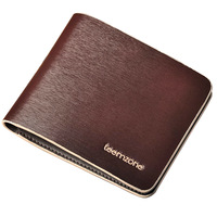 Teemzone fashion men wallet drawing lines cowhide wallet metal drawing quality card holder bag