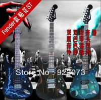 Applique finda electric guitar st bundle flame electric guitar
