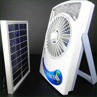 Portable Solar Electric Fan with LED Lights/Solar Panel- 3W/Watt FREESHIPPING