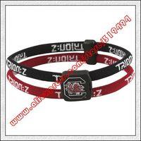 South Carolina Gamecocks Double Loop Trion-Z Bracelet - Garnet Black