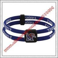 Memphis Tigers Double Loop Trion-Z Bracelet - Royal Blue