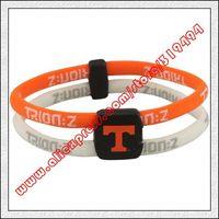 Tennessee Volunteers Double Loop Trion-Z Bracelet - Tennessee Orange  White
