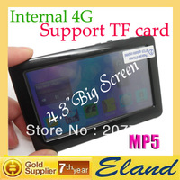 hot sale mp4/5 digital player 4.3 inch big touch screen 4G storage