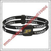 Purdue Boilermakers Double Loop Trion-Z Bracelet - Black