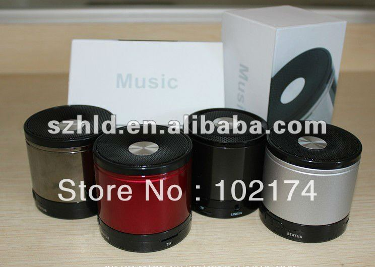 (free shipping ) 100pcs /lot by DHL 2013 promotional gift mini speaker K168 bluetooth speaker(China (Mainland))
