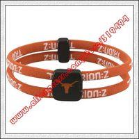 Texas Longhorns Double Loop Trion-Z Bracelet - Burnt Orange