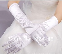 Own factory made Factory price Long 38cm Wite color cheap wedding Gloves finger gloves