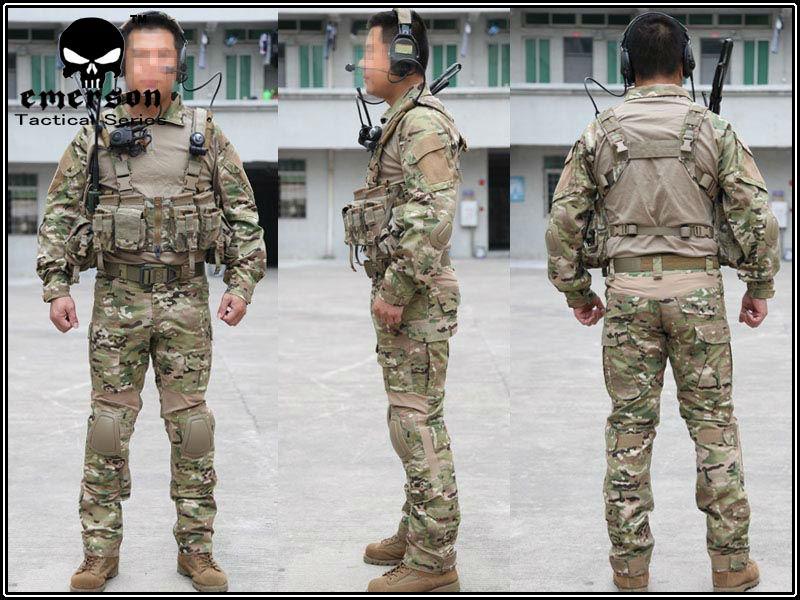 Uniformes seal aor 1 y multicam EMERSON-Gen2-font-b-Combat-b-font-BDU-font-b-Shirt-b-font-Pants-pads-2725