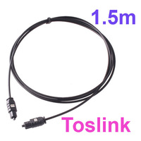 5 ft  5'  Optical Fiber Optic TOSLINK Digital  Audio Cable Connect to  DVD, CD, Mini Disc, DAT , Free Shipping