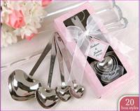 Novelty Wedding Gift Lovely Spoons Set Hot wedding giveaways 6sets/lot Free Shipping