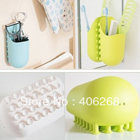 free shipping wholesale cheap!!! Suction cup storage rack multifunctional suction wall shelf plastic pocket