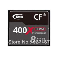 Free Shipping! Brand New Team 8GB 400X CF Memory Card for Canon/ Sony / Panasonic / Nikon / Fuji Cameras