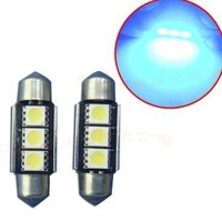 wholesale auto/car 36mm 3 SMD Pure White Dome Festoon CANBUS Error Free Car 3 LED Light Bulb Lamp free ship by DHL
