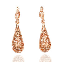 Factory price Fashion charm dangle earring fashion 18 k gold plated jewelry good quality nickel free E016