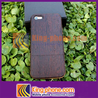 free shipping for iphone 5 wood case 2013 New arrival Design Natural Real mobile phone wood case(China (Mainland))