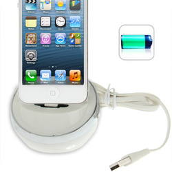 Cradle 8-Pin Charging Docking Station for iPhone 5 for iPhone 5 / iPod Touch 5.2 colors optional(China (Mainland))