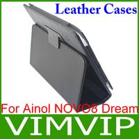 High quality New PU Leather Ainol NOVO 8 Dream Tablet pc case Free shipping
