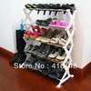 Heavy duty streel tube foldable organizer 5-Tier Shoe Rack footware storage(China (Mainland))