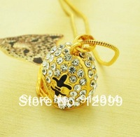 Free Shipping hot sale Fashion Gold Plating New Fleur De Lis Football Helmet Shape Pendant Necklace 5PCS/lot
