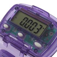 Portable Clamshell Shape LCD Pedometer