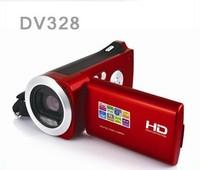 2.7 inch 3.0 mega DV328  DV-328 mini protable digital video camera RED/SILVER/GREY COLOR free shipping