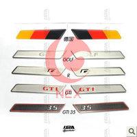 Volkswagen golf6 GTI skoda Octavia car interior refitting stainless steel seat armrest stickers
