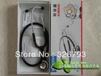 Hot sale! Free shipping+Wholesale 5pcs/lot Sean medical cardiopulmonary pitch clear and double-sided stethoscope HS-30B1
