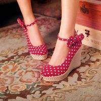 2013  women's  dot bow banding bandage shallow mouth round toe   shoes