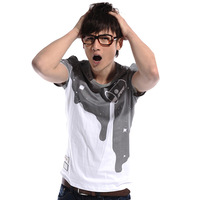 2013 summer short-sleeve t-shirt o-neck casual male basic shirt personalized short-sleeve T-shirt