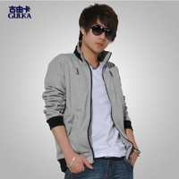 2013 spring paragraph the trend of the sweatshirt male casual stand collar cardigan sweatshirt outerwear clothes