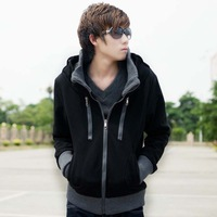 Winter personality male sweatshirt non-mainstream stand collar casual male thickening cardigan