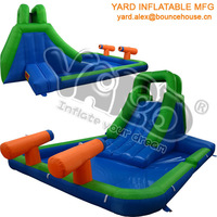 Best selling inflatable pool slide,inflatable water slide with cannons