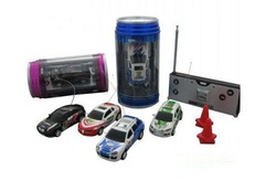 Wholesale 4pcs/lot 1:63 Novelty Design RC Car- 1:63 RC Mini Racing Car -Coke Can mini car(China (Mainland))