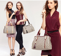 (Free Shipping)Women's Handbag 2013 Brief Vintage Print Emboss Ladies Tassel Soft Shoulder Bag Top Quality