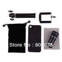 Black 12x Telephoto Lens With Mini Tripod  For  iPhone 5