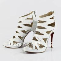 Dropshipping 1pc new fashion white sandal shoes.Wholesale price!!!!