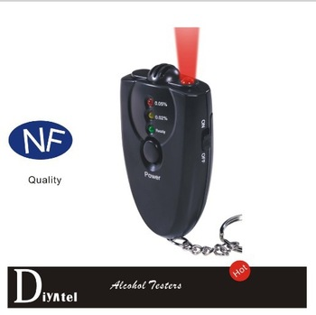 Wholesale Free Shipping Digital Breathalyzer Alcohol Tester With LED Flashligh Keychain 2000pcs/lot
