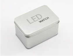 led Mirror watch box silicone mirror watch box Mirror watch box FREE SHIPPING C543(China (Mainland))