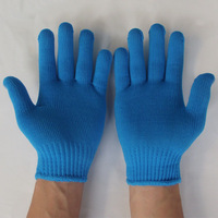 12pieces 1 lot High quality nylon knitted gloves working gloves driver gloves protection gloves hands protector G0406