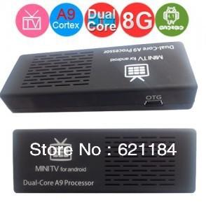 Free Shipping MK808 MK808B Bluetooth Android Wireles Mini PC TV Box Dual Core Rockchip RK3066 WiFi HDMI Dongle(China (Mainland))