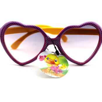 2012 baby child sunglasses female child pink heart card girl