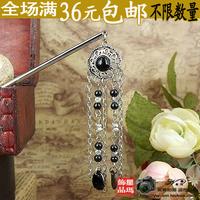 Free shipping Oriental hair sticks/ hair pin/ Bridal headpieces/ Chinese Kanzashi Rhinestones flowers with dangling charm