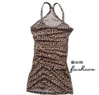 A-3 all-match leopard print sexy spaghetti strap vest
