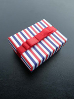 Free Shipping Wholesale 24pcs/Lot 6.5x5x2.5cm Fine Stripes Jewelry Packaging Box Earrings/Ring Box