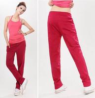 2013 spring new arrival women's harem pants casual sports pants 100% cotton sports pants