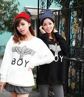 Women/Men Eagle London BOY Big bang Loose Eagle Pattern Print Long Sleeve Hoodies Sweatshirt Free Shipipng