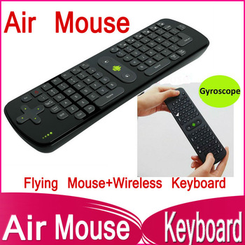 Free shipping Gyroscope Mini Fly Air Mouse RC11 2.4GHz wireless Keyboard for google android Mini PC TV Palyer box